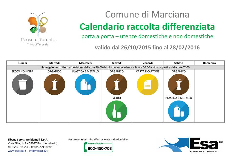 calendario diff marciana